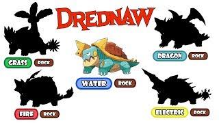 Drednaw  - (Pokémon) - Pokemon Type Swap - Drednaw ( Fire, Grass, Electric, Dragon ).