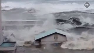Compilation Epic Tsunami Scenes Terrible Elemental Destruction Part 1/Подборка Эпических цунами № 1