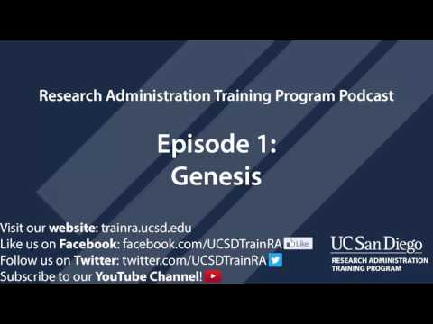 Research Administration Training Program Podcast   Episode 1 ...