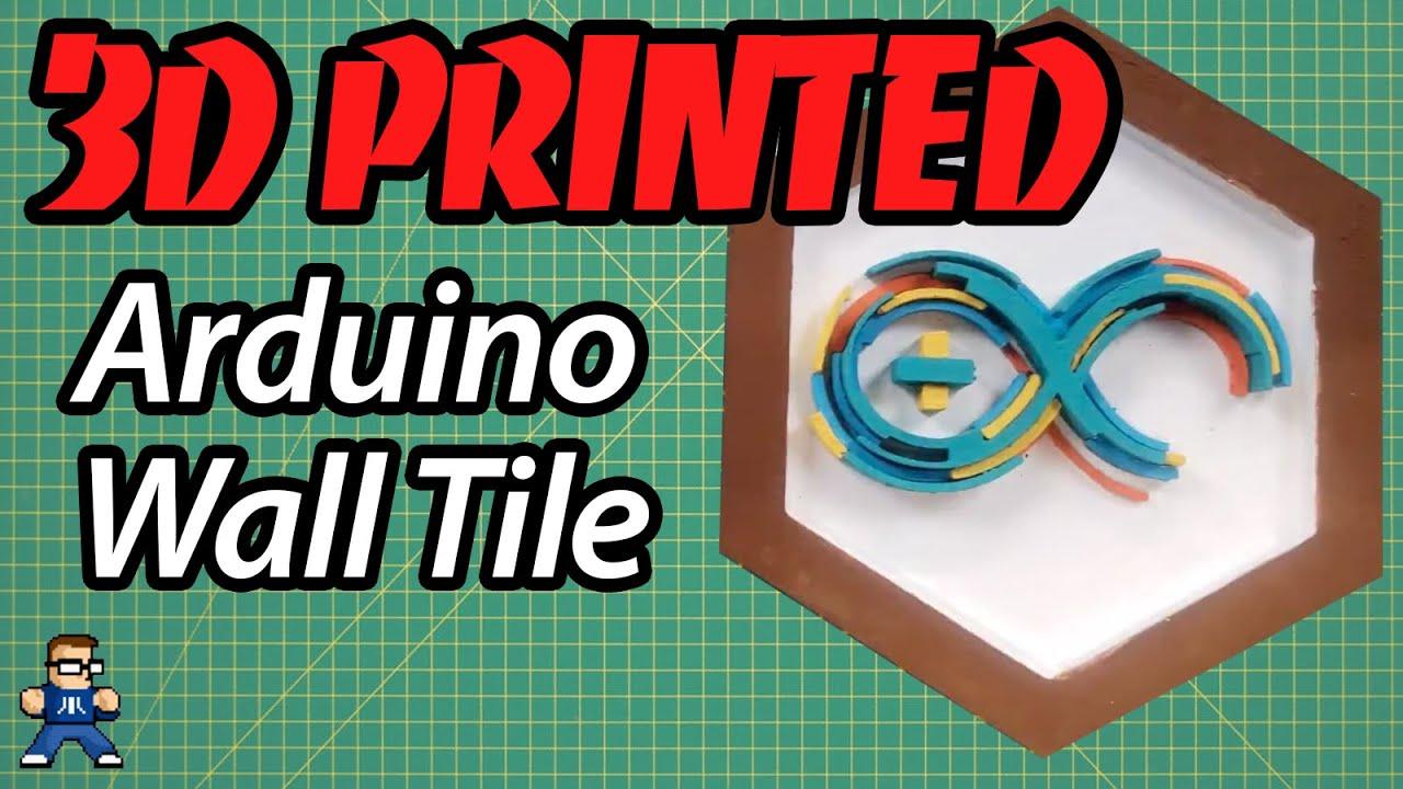 3D Printed Arduino Logo Wall Tile
