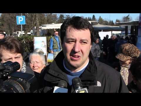 Salvini al mercato di Tradate