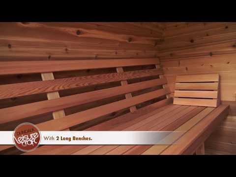 Sauna POD de Cedro Rojo de Dundalk