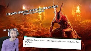 SJW Gaming Journalist Triggered by a game set in Hell apparently it isn't a nice place