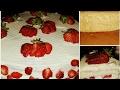 Çiyələkli tort. Meyvəli tort. Hündür biskivitin sirri.
