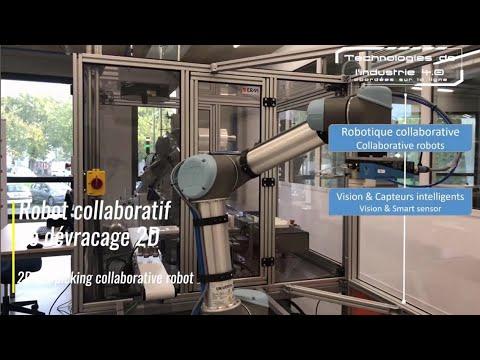 Intégrations robotiques en pick and place : Robot collaboratif de dévracage 2d