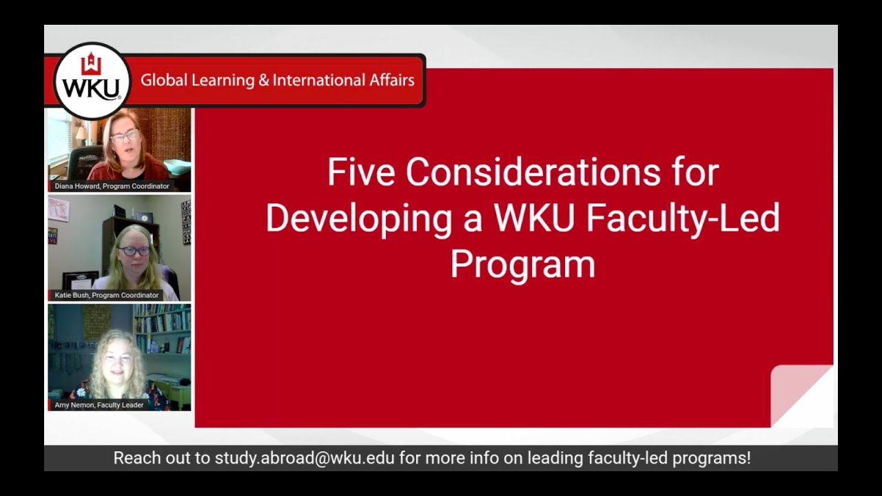 5 Considerations for Developing a Faculty-Led Program Video Preview