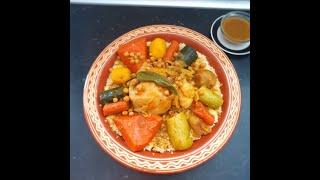 Couscous Marocain à La Viande Et Légumes/ كسكس المغربي بالخضر واللحم بطريقة مبسطة وناجحة