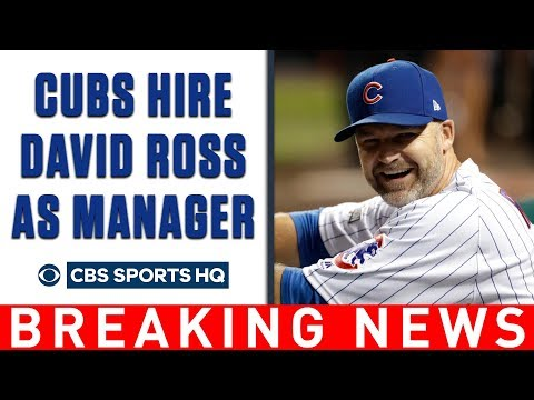 Breaking News: Chicago Cubs hire former player DAVID ROSS as team's manager   CBS Sports HQ