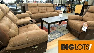 BIG LOTS SHOP WITH ME HOME FURNITURE SOFAS KITCHENWARE SPRING DECOR SHOPPING STORE WALK THROUGH
