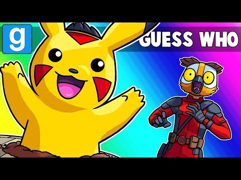 Gmod Guess Who Funny Moments - Detective Pikachu Used Popup! (Garry's Mod)