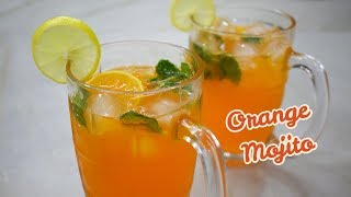 Orange Mojito | How to make Orange Mojito | Refreshing Mocktail Drink - Orange Mojito