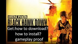 Delta Force Black Hawk Down Free Download PC Game Full Version - 100% Working