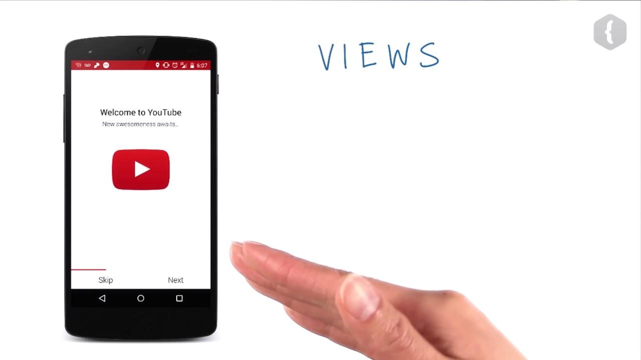 Выбираем View-элементы для приложения YouTube - 1