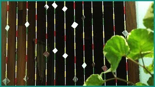 How To Make A Beaded Door Curtain Out Of Wastage DIY Recycling Fly Curtain ❤️