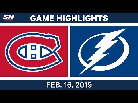 NHL Highlights | Canadiens vs. Lightning - Feb 16, 2019