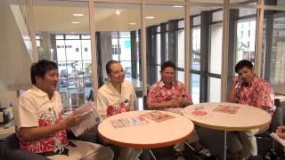 ガレッジセールとスリムクラブが沖縄タイムスに来た