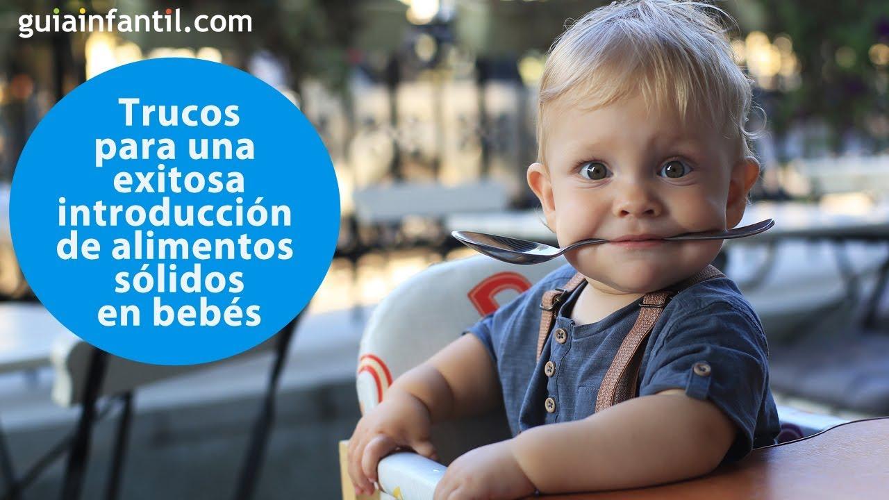 Trucos para una exitosa introducción de alimentos sólidos en bebé | #ConectaConTuHijo