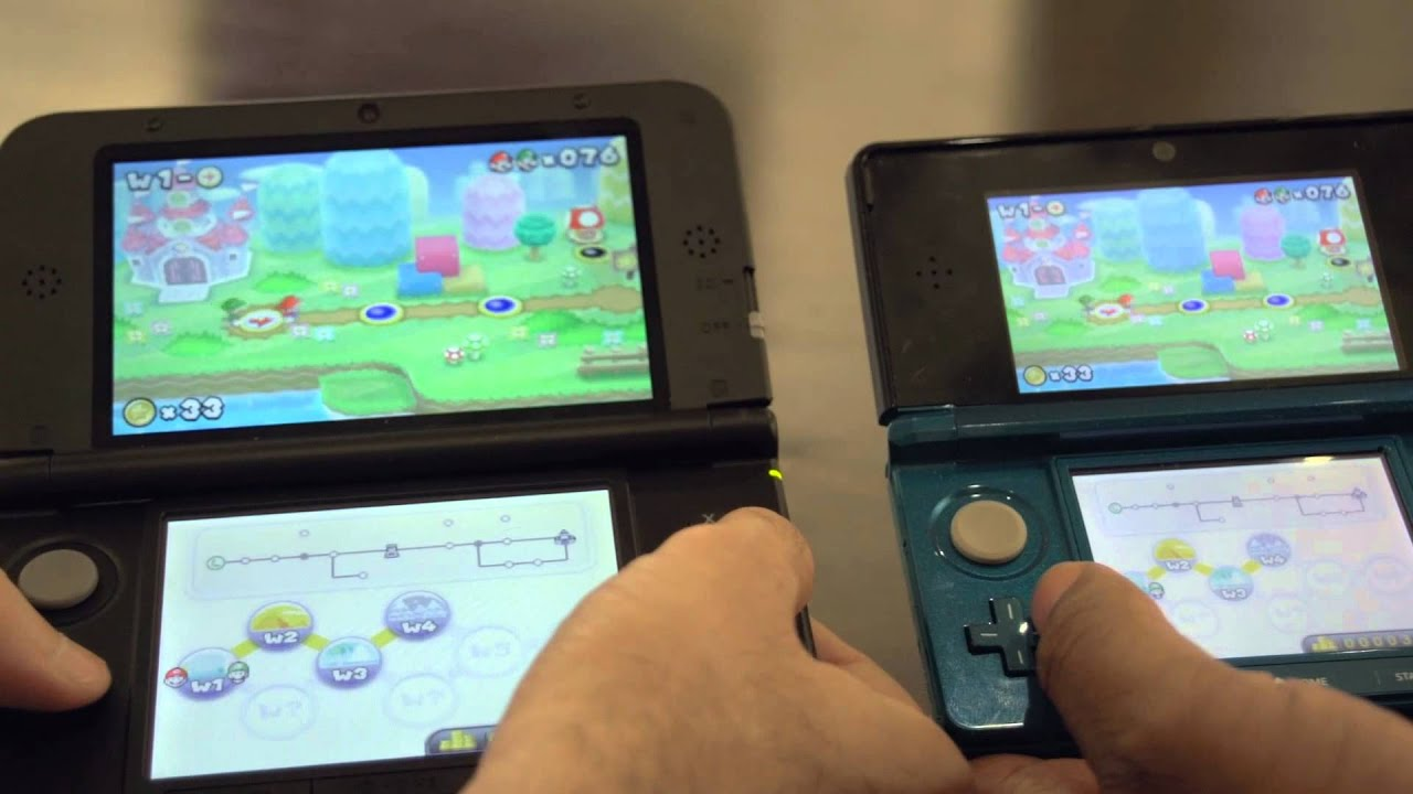 Compare The Same Mario Game Running On The 3DS And 3DS XL