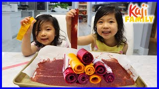 DIY Homemade Fruit Roll Ups for kids with Emma and Kate!!!