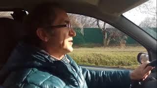 Станица Холмская, 105км от Анапы-моря (вид улиц из машины) 30.01.2018