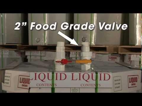 Liquid Bulk Container Evacuation Valves