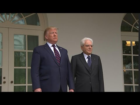 Trump hosts Italy's President Mattarella at the White House
