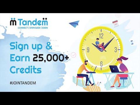 Ganhe 25000 Tokens CREDITS Gratuitamente apenas ao registrar-se no Airdrop Tandem !!
