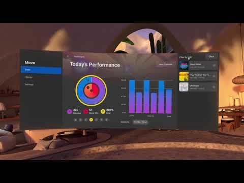 Oculus Move Fitness Dashboard de Beat Saber