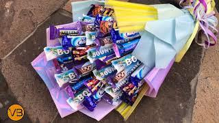 БУКЕТ ИЗ КОНФЕТ 🍬 Большой шоколадный букет 🍬 УПАКОВКА БУКЕТА 🍬 Candy Bouquet