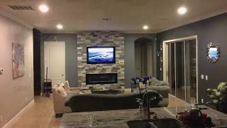 How to Build an Electric Fireplace TV Combo stone wall