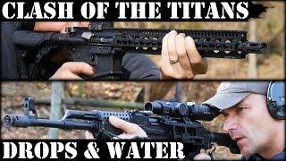 Clash Of The Titans 3 Vepr AK47 Vs Daniel Defense AR15 Concrete & Water