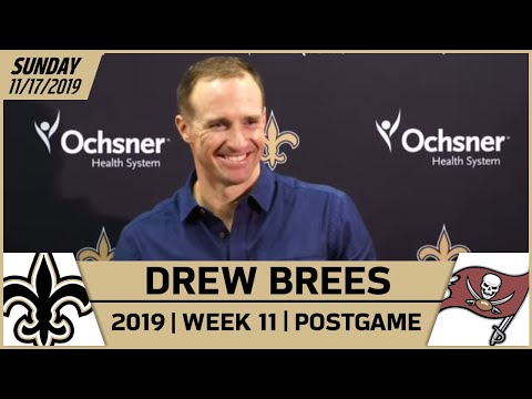 Drew Brees Postgame Reactions After Win vs Bucs in Week 11 | New Orleans Saints Football
