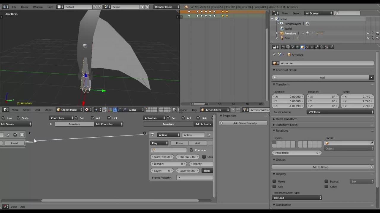Blender Game tutoriel 1 Python : Effet de coup d'épée (Sword swoosh)