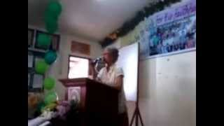 JFBC History - Guest Felisa Eduardo Sevilla narrating the Church history