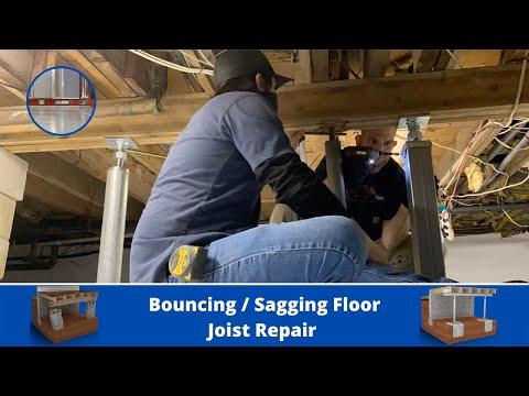 Sagging Floor Joists   SmartJack Installation