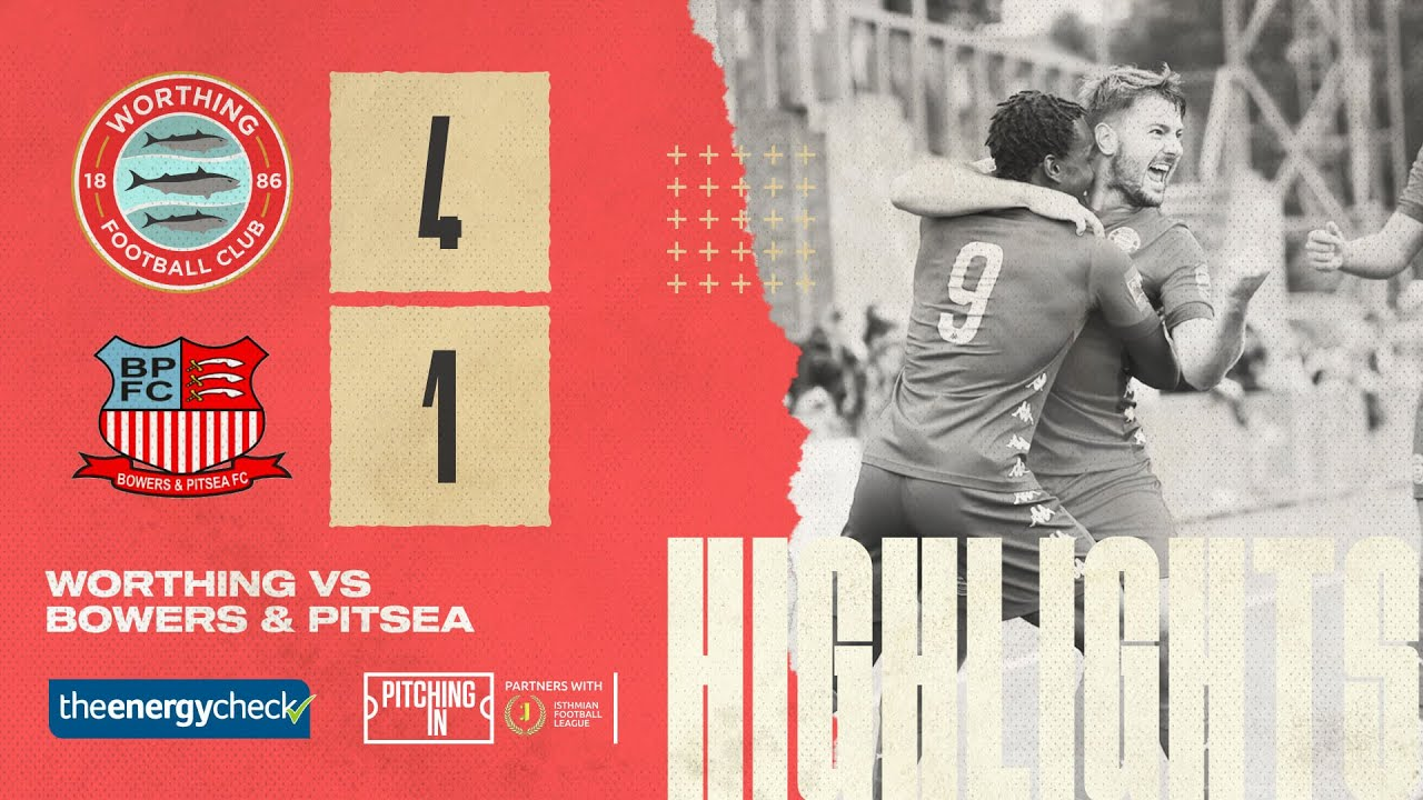 Thumbnail for Highlights: Worthing 4-1 Bowers & Pitsea