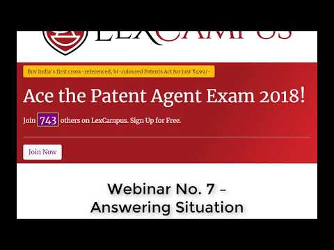 Patent Agent Exam-How to answer situation based questions ...
