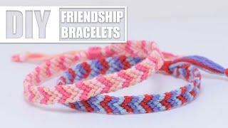 DIY Chevron Friendship Bracelets   Easy Tutorial For Beginners
