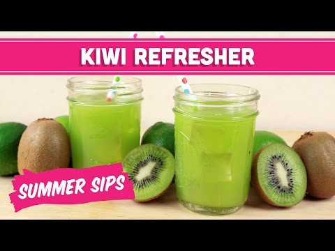 Video Kiwi Refresher Juice! Summer Sips In Sixty Seconds - Mind Over Munch