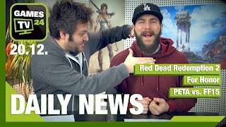 Red Dead Redemption 2, For Honor Shitstorm, PETA vs. FF15 | Games TV 24 Daily - 20.12.2016