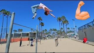 FLIPPING AT MUSCLE BEACH!