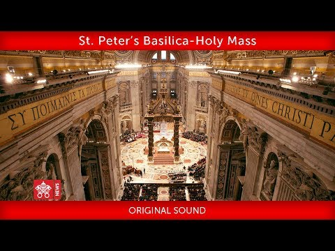 Pope Francis -  St. Peter's Basilica- Closing Mass Synod of Bishops  2018-10-028 (видео)