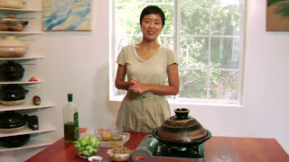"""Brussels Sprouts & """"Yuba"""" Tofu Skin in Miso Sauce Japanese & Donabe Cooking"""
