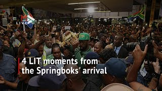 F-bombs and anthem remixes: 4 LIT moments from the Springboks' arrival