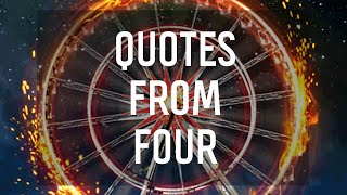 7 Quotes By Four From Divergent By Veronica Roth