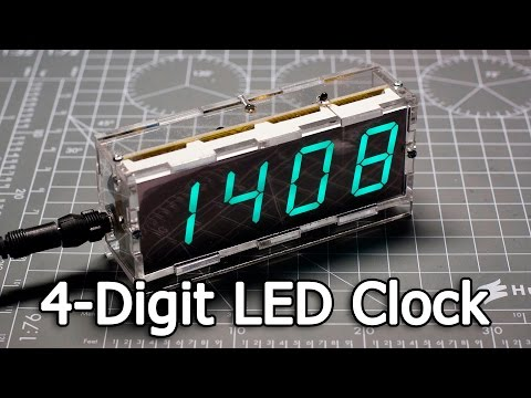 NEJE DIY Large Screen 4-Digit Green LED Electronic Clock Kit (DealExtreme – SKU383449)
