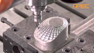 Automotive lamp reflector mold, die and mold,5-axis high speed gantry machining center, APEC