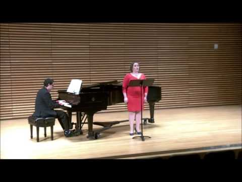 Mary Martin and I performing Puertorican art song.