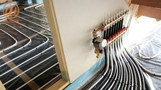 Underfloor heating insulation over slab installation by Continental Underfloor