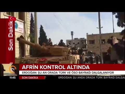 Çanakkale Zaferi'nin 103. yılında Türk askeri Afrin'de Türk bayrağını dalgalandırıyor